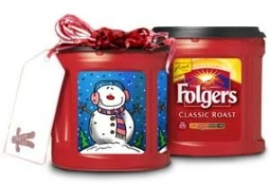 Folgers coffee can labels for the holidays and more! MyRepurposedLife.com