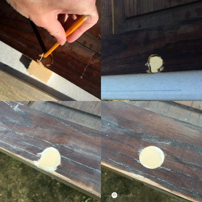 how to patch a hole in wood