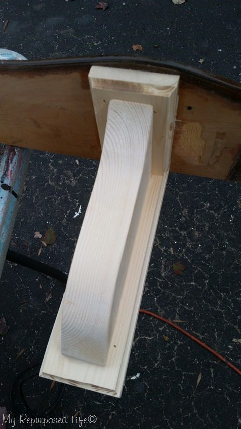 making diy shelf brackets