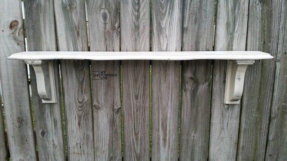 narrow wall shelf how to make your own brackets MyRepurposedLife.com