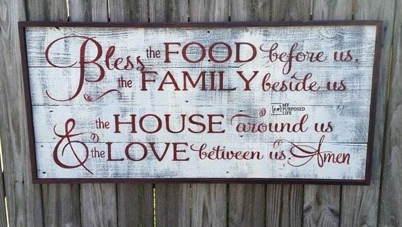 rustic bless the food sign 2 MyRepurposedLife.com