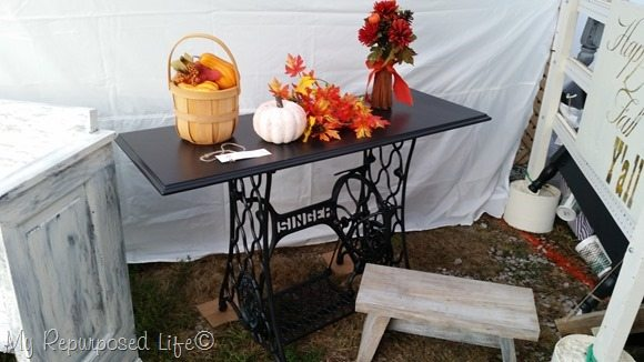 singer sewing machine table