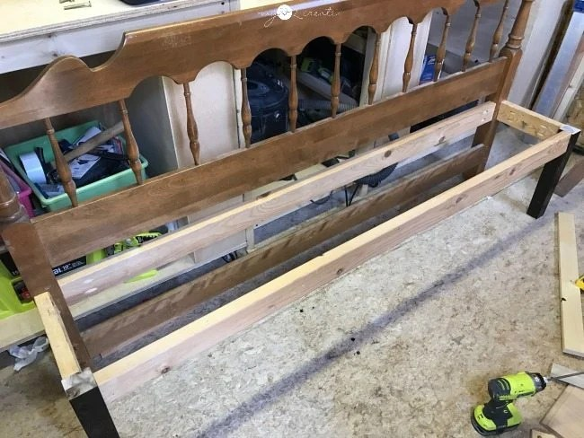 building a headboard bench