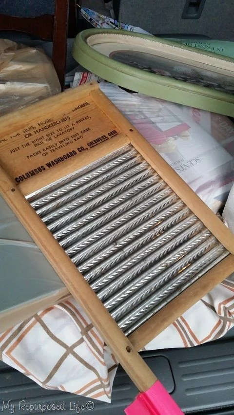 thrift store vintage washboard