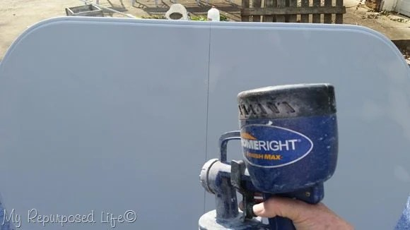 how to get good coverage on a table top with a paint sprayer