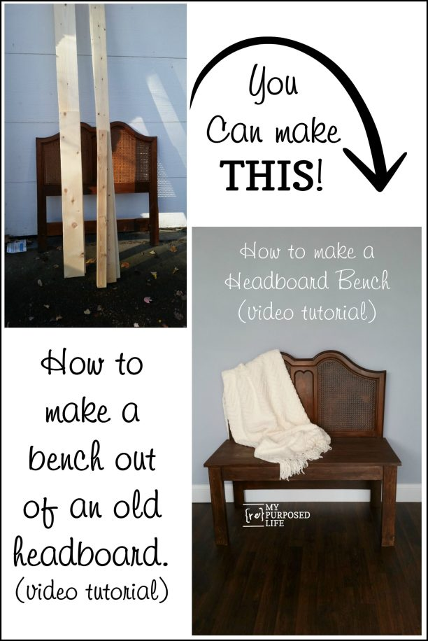 headboard bench video tutorial