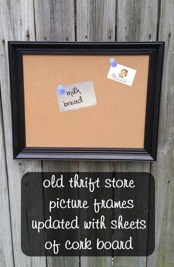 Easy project- how to turn old picture frames into new cork boards MyRepurposedLife.com