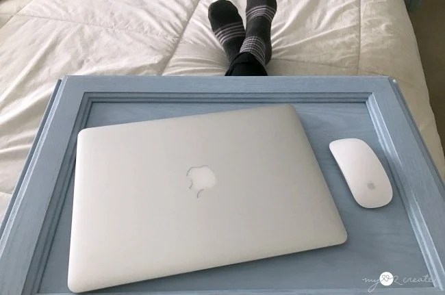 DIY Lap Desk made from repurposed cupboard doors