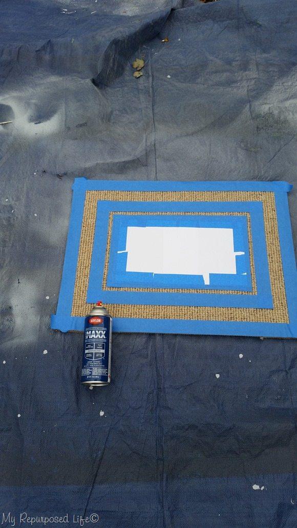 spray paint on tarp