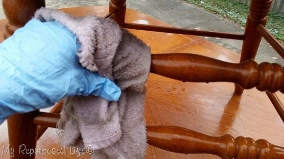 wipe chairs with TSP