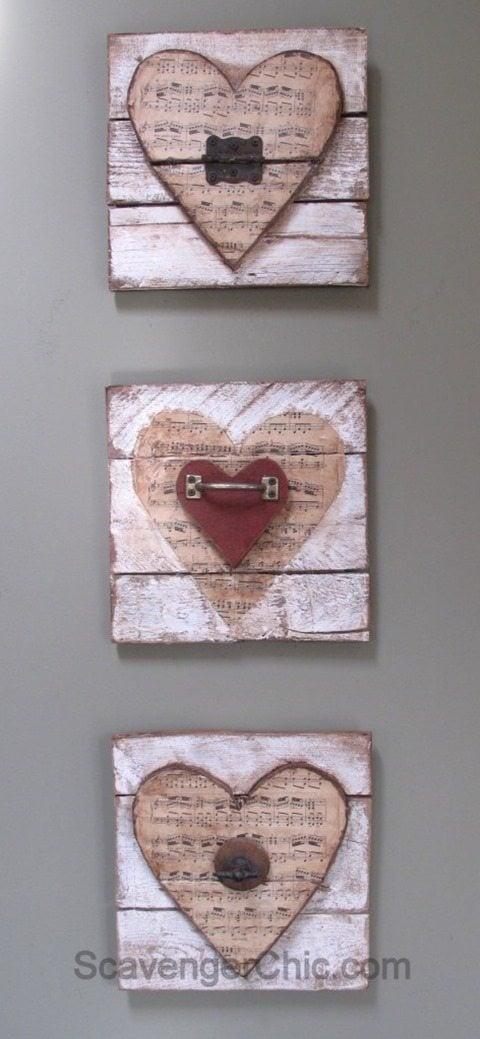 junk hearts for valentine decor