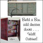 Wall Cabinet | Craft Storage | Repurposed Doors
