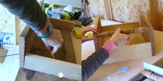 cut bottom board dry fit