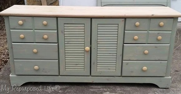 free dresser with louvered doors