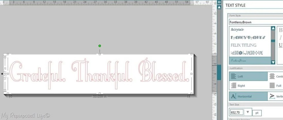 grateful thankful blessed silhouette stencil