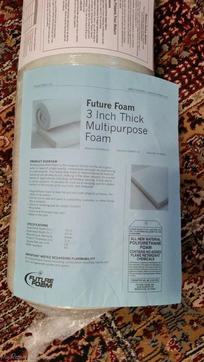 home depot great deal on cushion foam