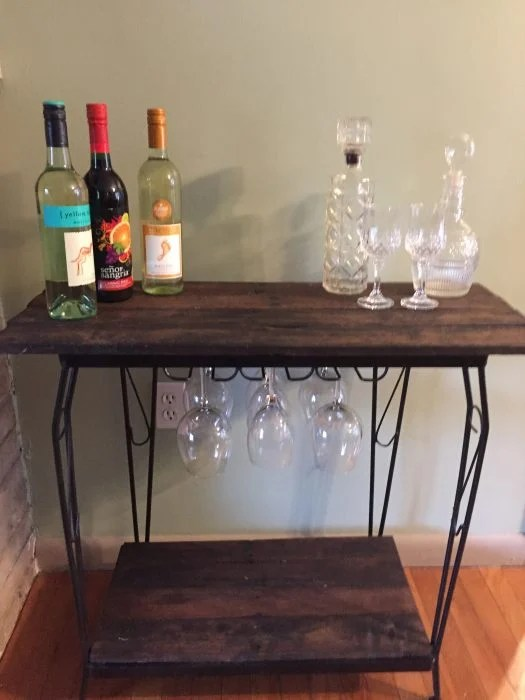 fish tank stand unique rustic wine bar