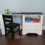 Kid S Chalkboard Desk Using Repurposed Nightstand My Repurposed Life Rescue Re Imagine Repeat
