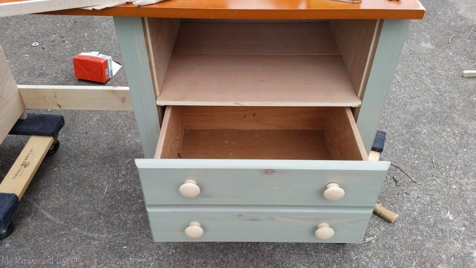 remove drawer make shelf