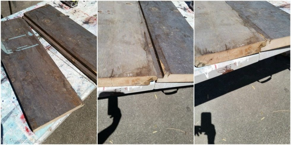 table top boards rabbet cut