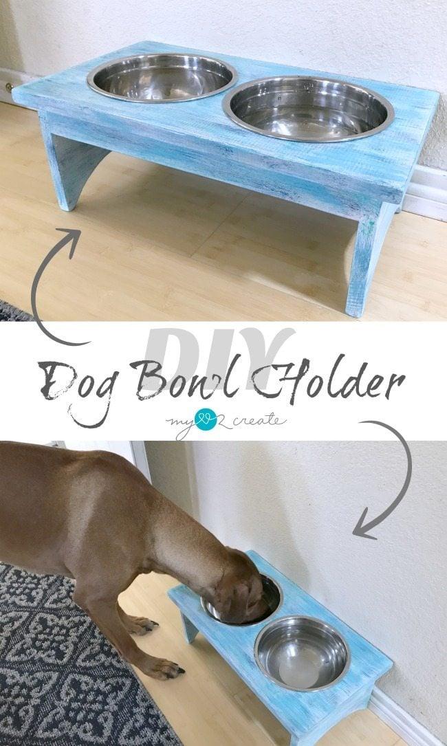 DIY Dog Bowl Holder/stand