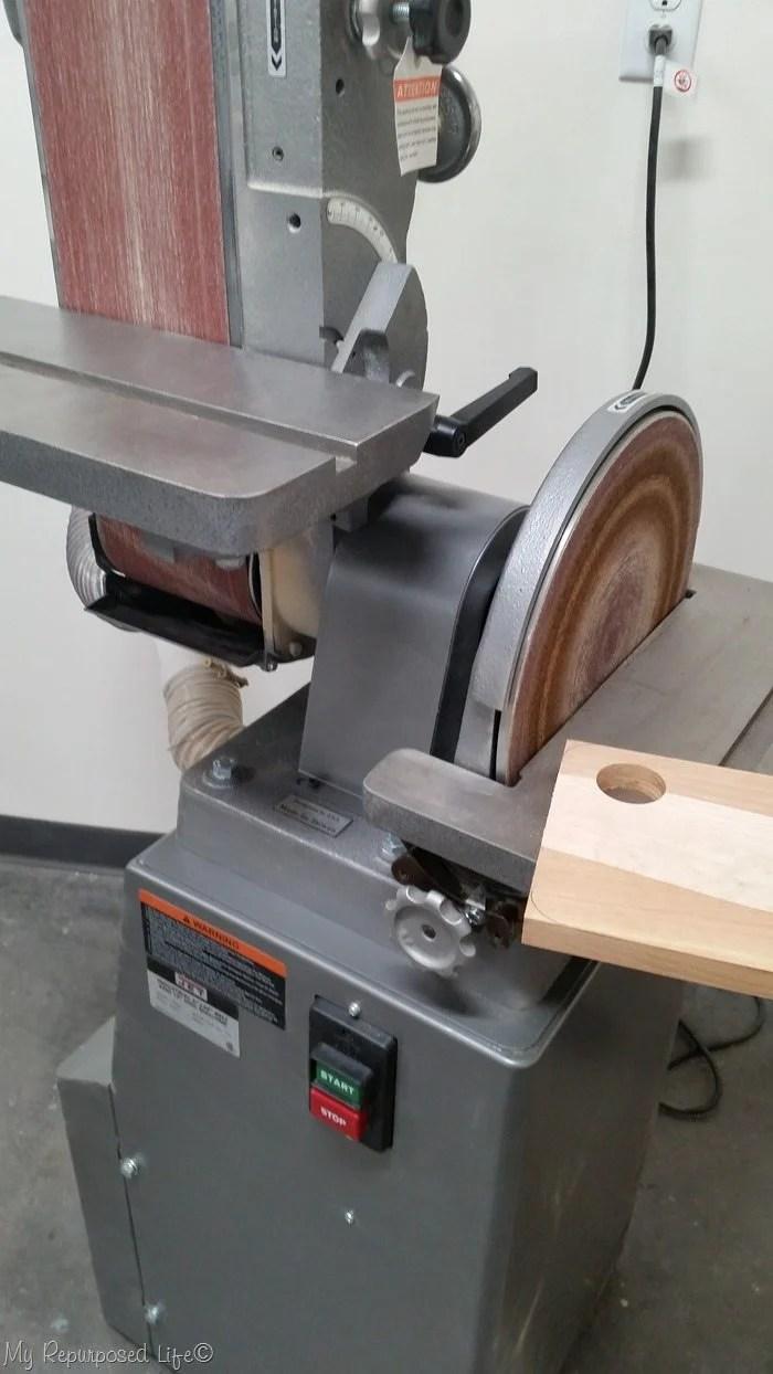 belt sander and disc sander