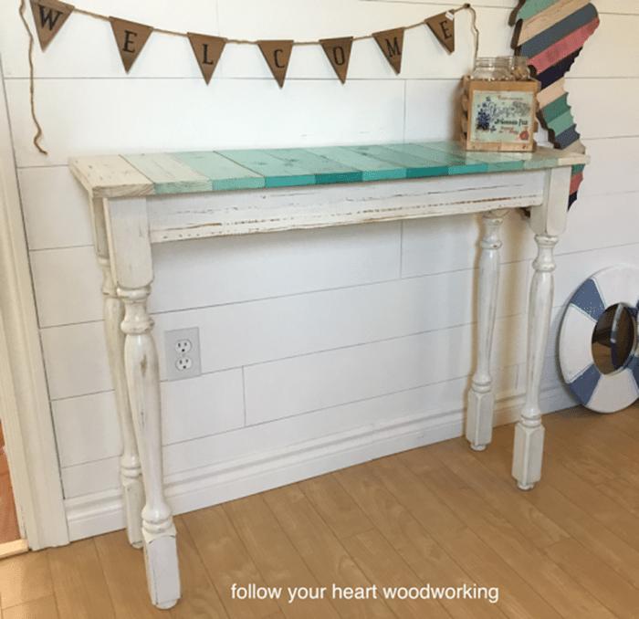 coastal hall table
