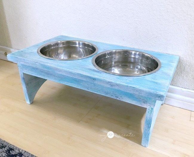 diy dog bowl stand