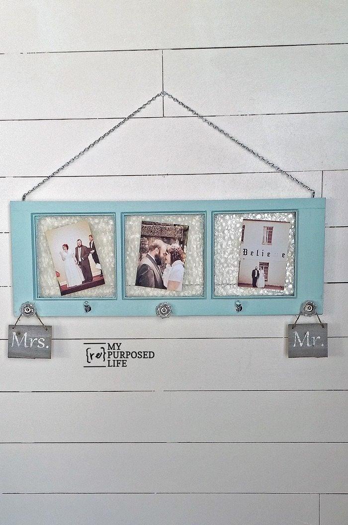 green vintage frosted window coat rack hook for wedding pictures MyRepurposedLife