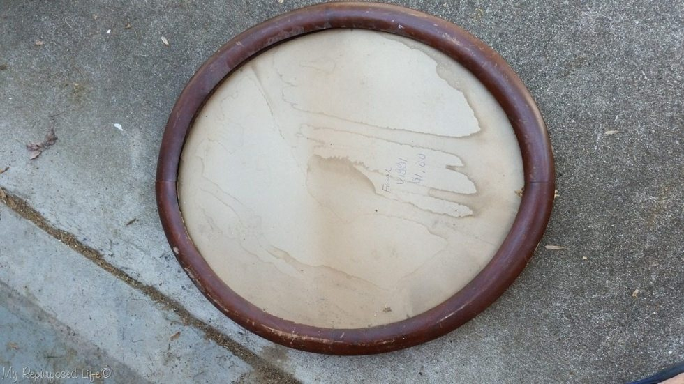 large oval picture frame