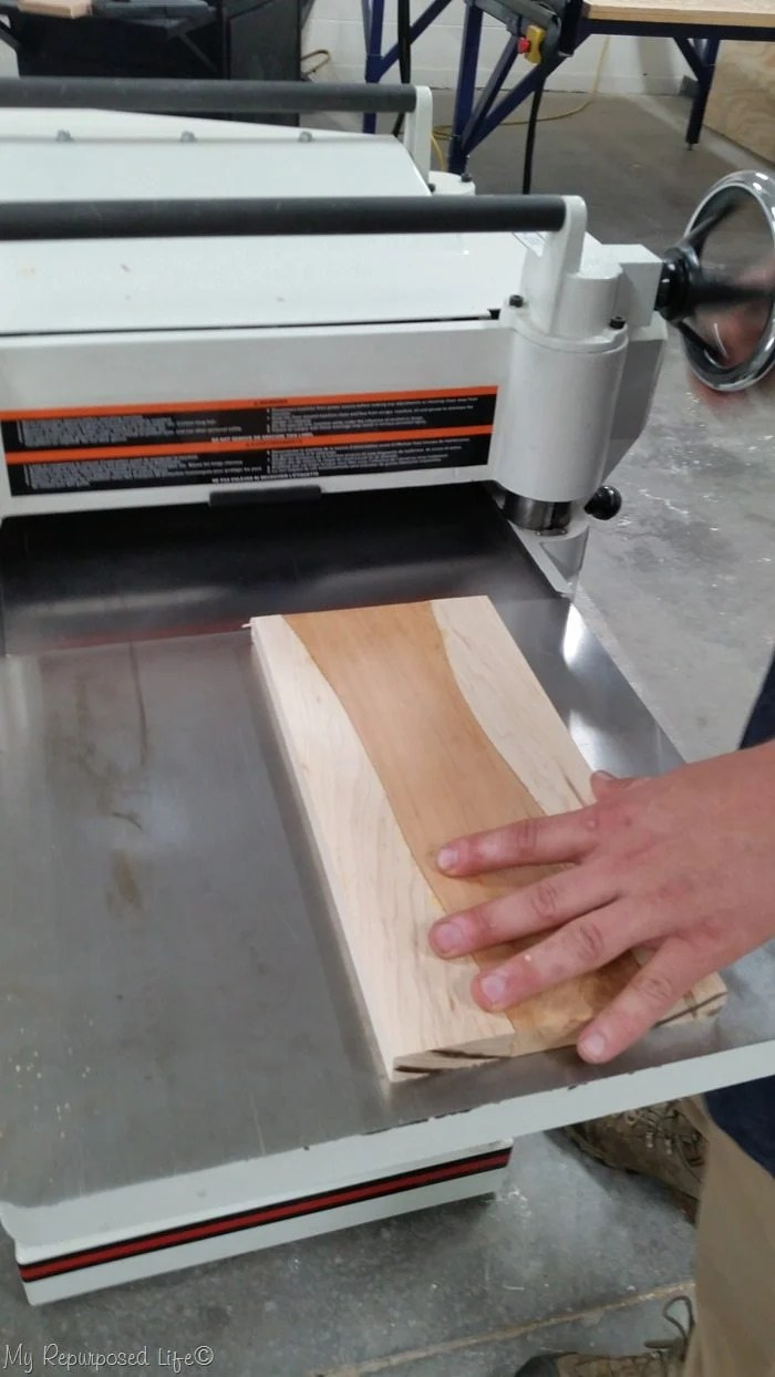 send cutting board through planer