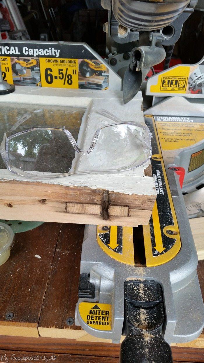 trim vintage window miter saw