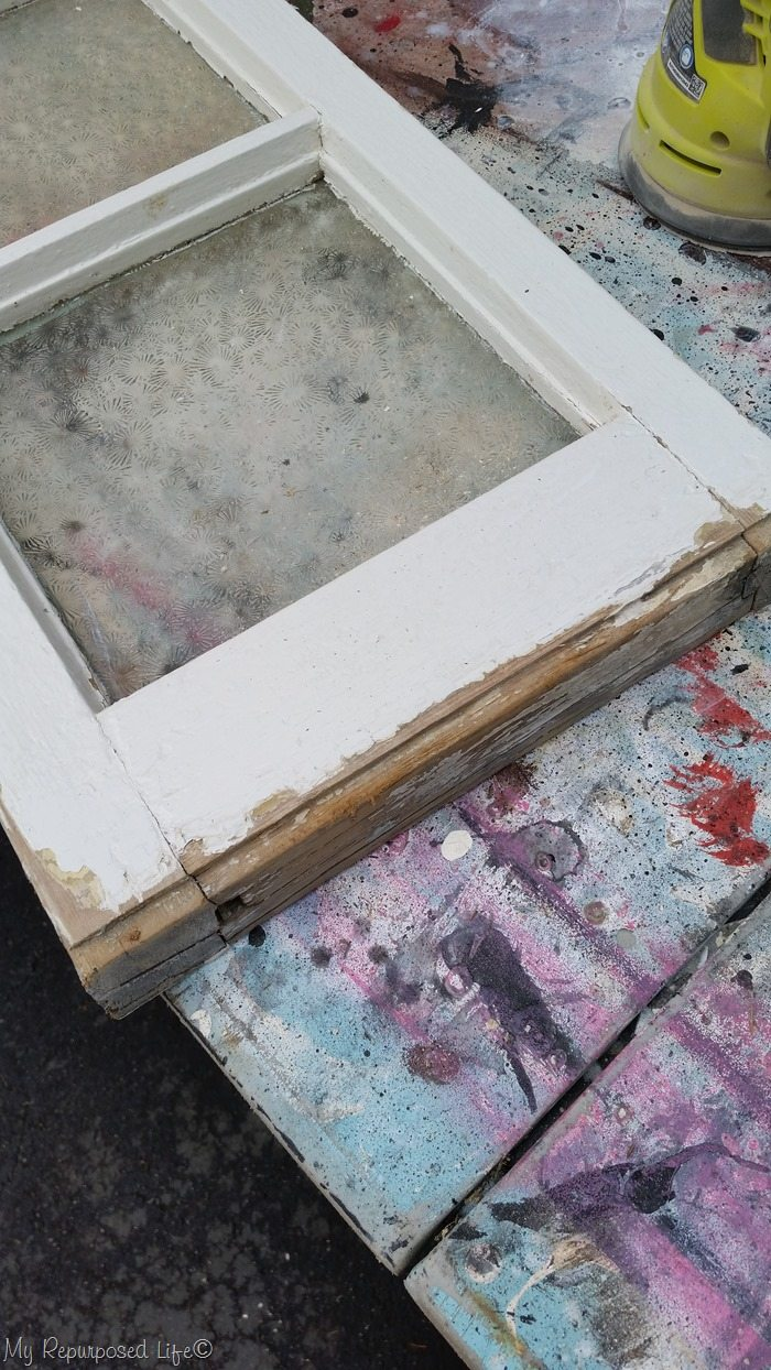 vintage window trimming