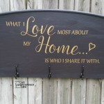 What I Love Most About My Home Headboard Sign