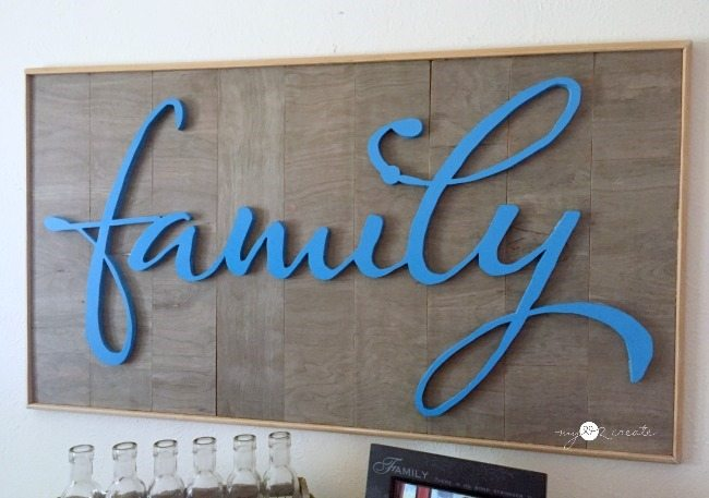 family framed wood sign
