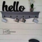 gray glazed shelves