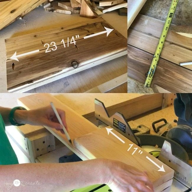 measure and cut cedar boards