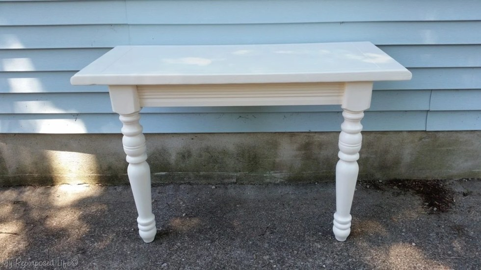 painted primed diy console table