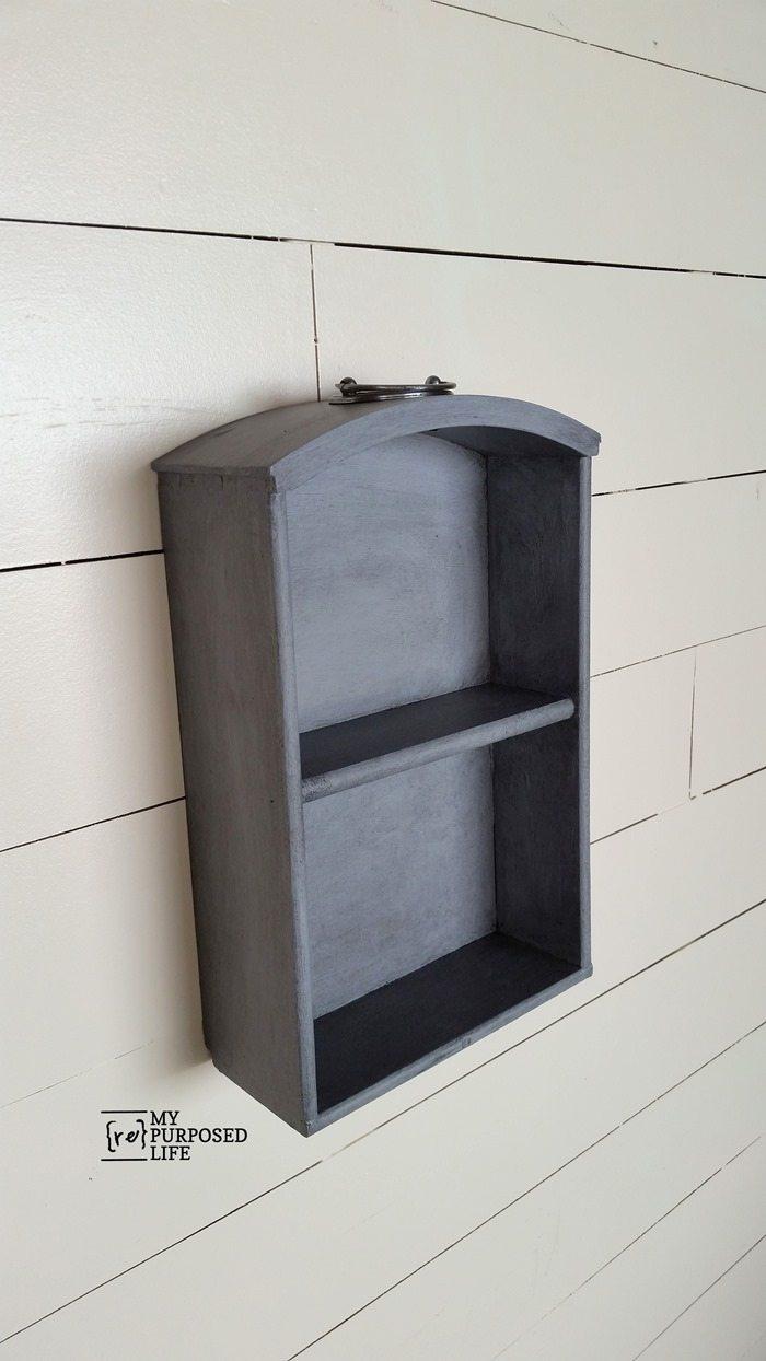 small vintage drawer shelf MyRepurposedLife