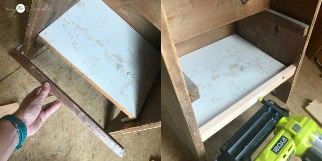 adding trim to shelf