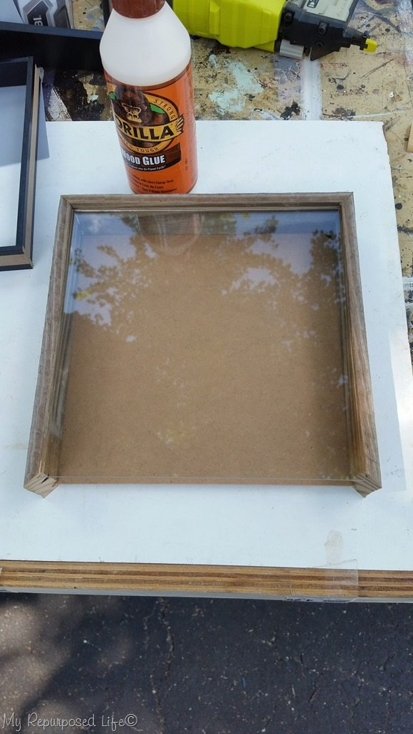 gorilla glue rustic shadow box frame
