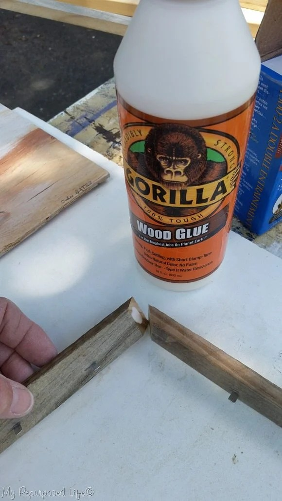 gorilla wood glue mitered frame corner
