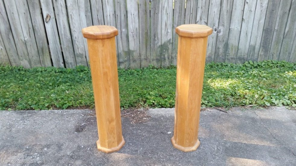 large pedestals columns for headboard