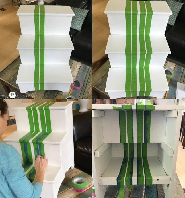painting skinny stripes