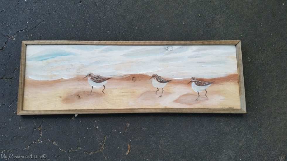 reclaimed artwork rustic frame
