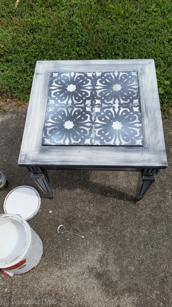 redo a table top using a stencil