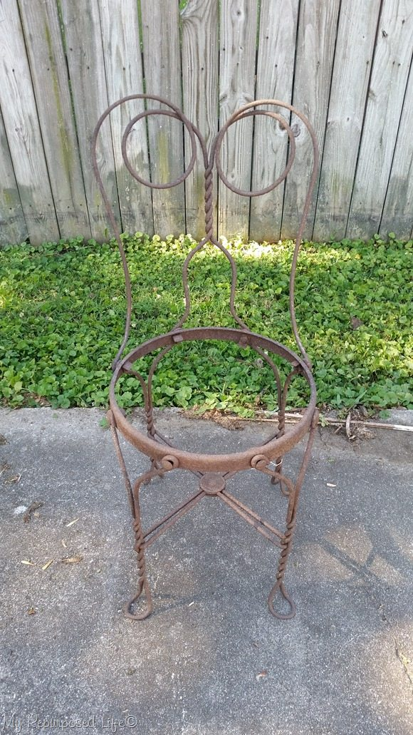 rusted ice cream parlor chair