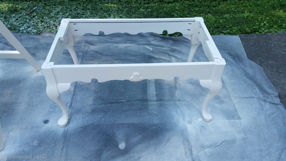 white coffee table end of bed bench