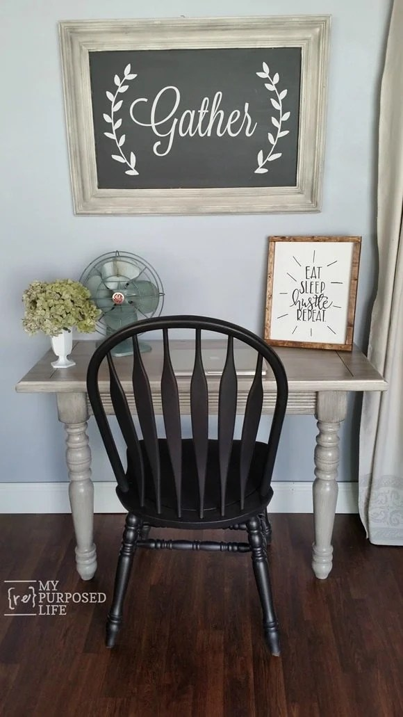 DIY writing table for the kitchen or home office MyRepurposedLife.com