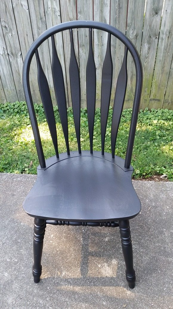 black spindle chair with finish max super makeover